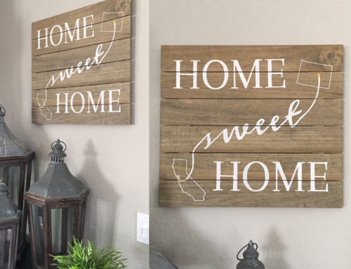 How to Make a Wood Plank Sign for Your Home