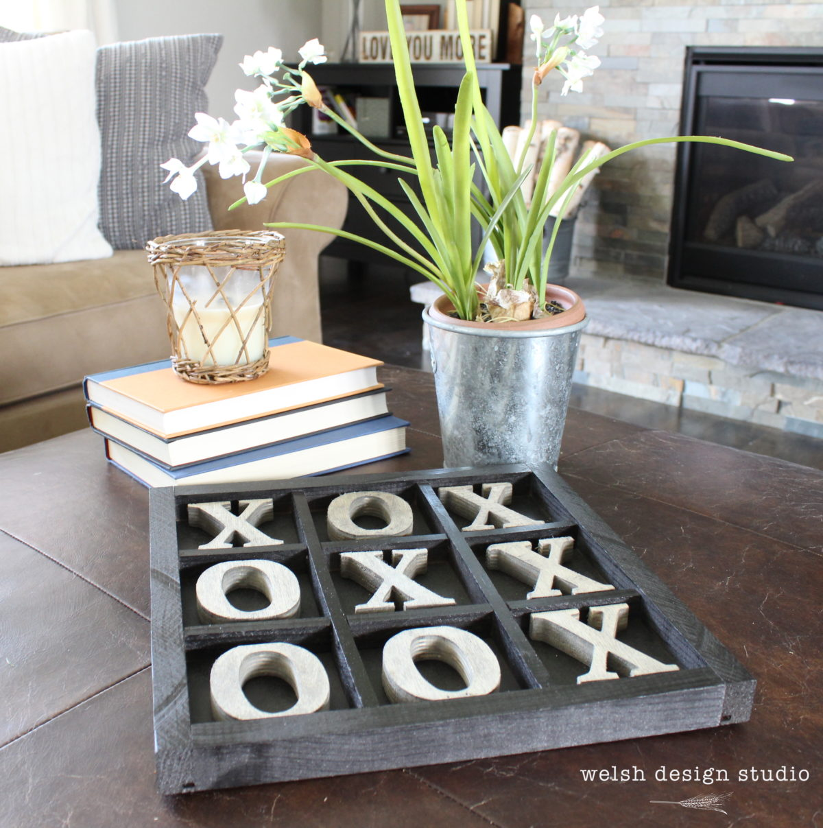 Diy Rustic Tic Tac Toe Board Welsh Design Studio
