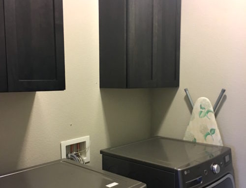 Laundry Cabinets are Installed!