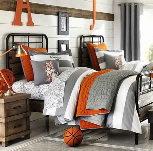 Orange Kids Room: My Three Favorite Color Schemes For A Boy's Bedroom
