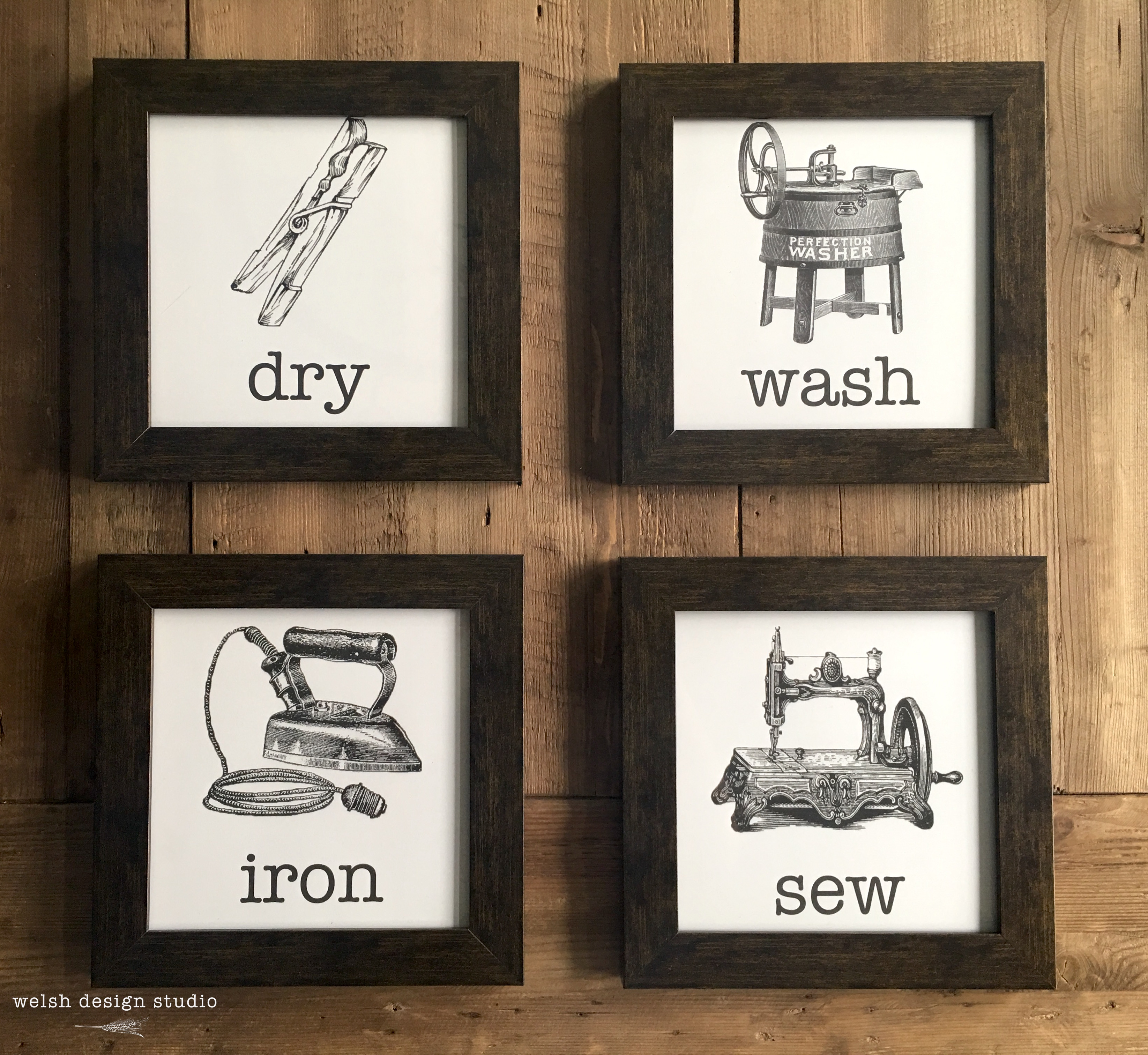 This is a photo of Sizzling Free Vintage Laundry Room Printables