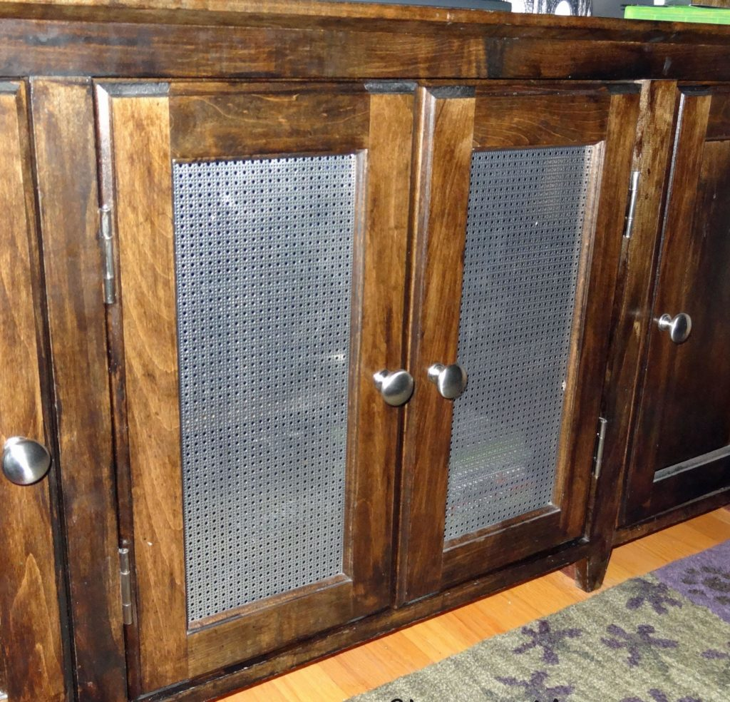 Changing Kitchen Cabinet Doors: How To Replace Glass Cabinets With A Metal Screen