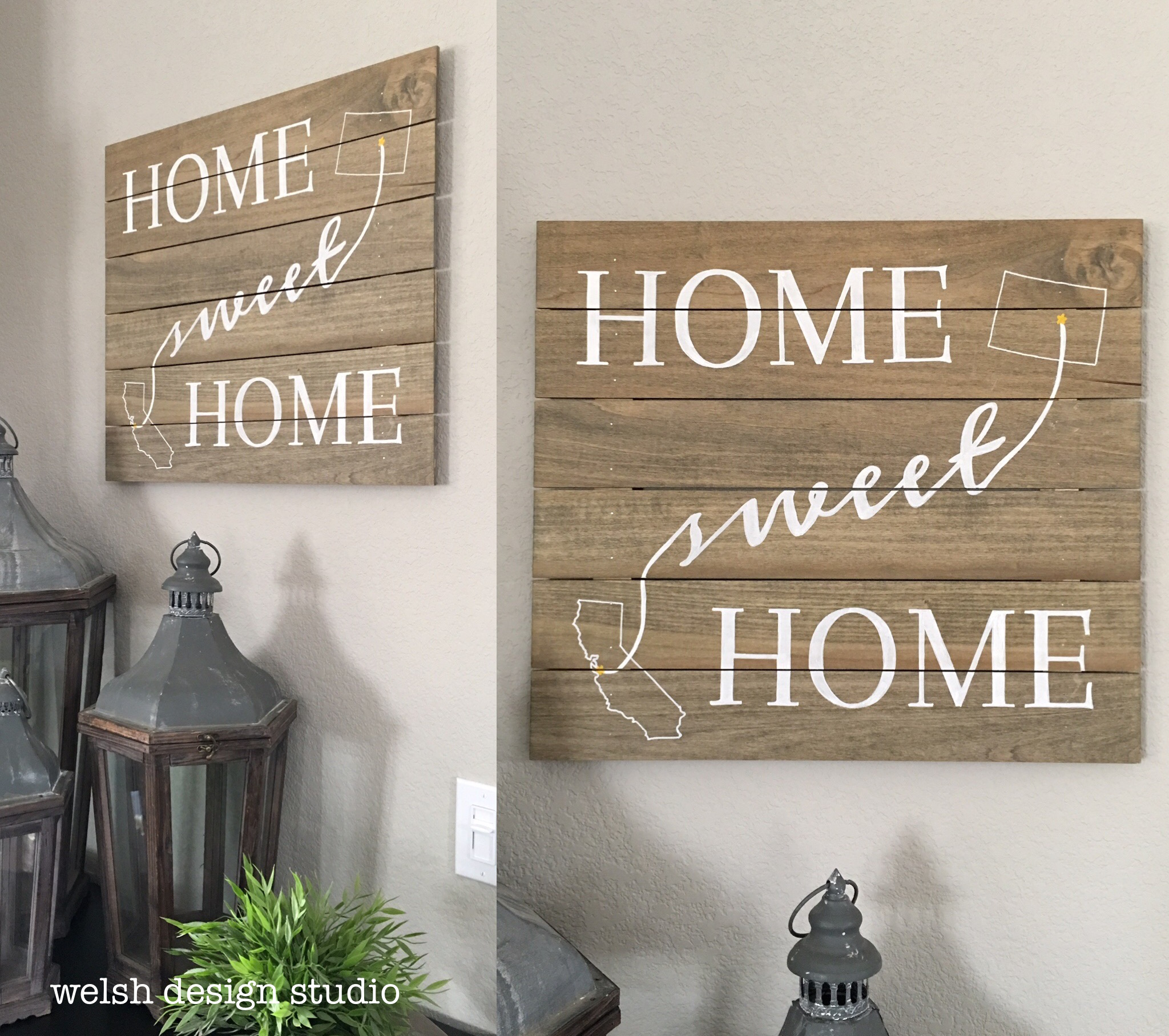 How To Make A Wood Plank Sign For Your Home Welsh Design Studio