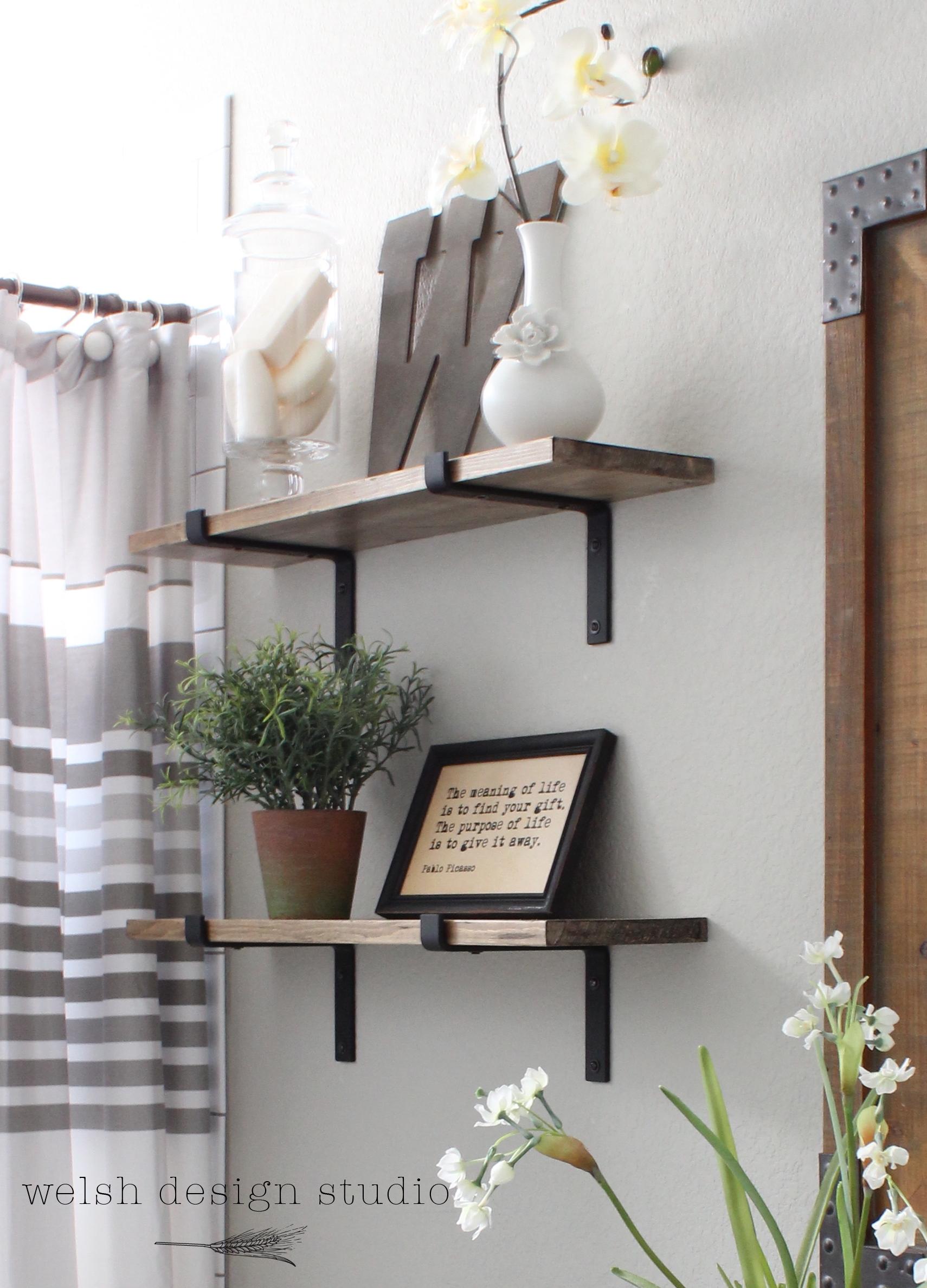 Diy Industrial Shelves For The Bathroom Welsh Design Studio