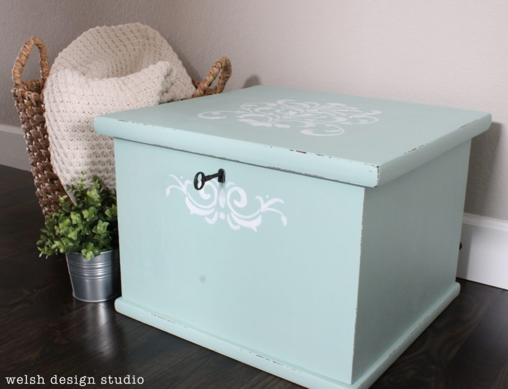 Storage Cube Receives a Lovely Milk Paint Makeover
