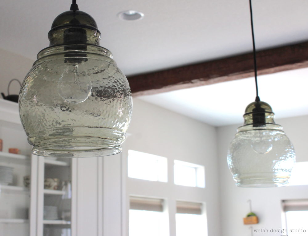 New Kitchen Pendant Lights & Mudroom Light