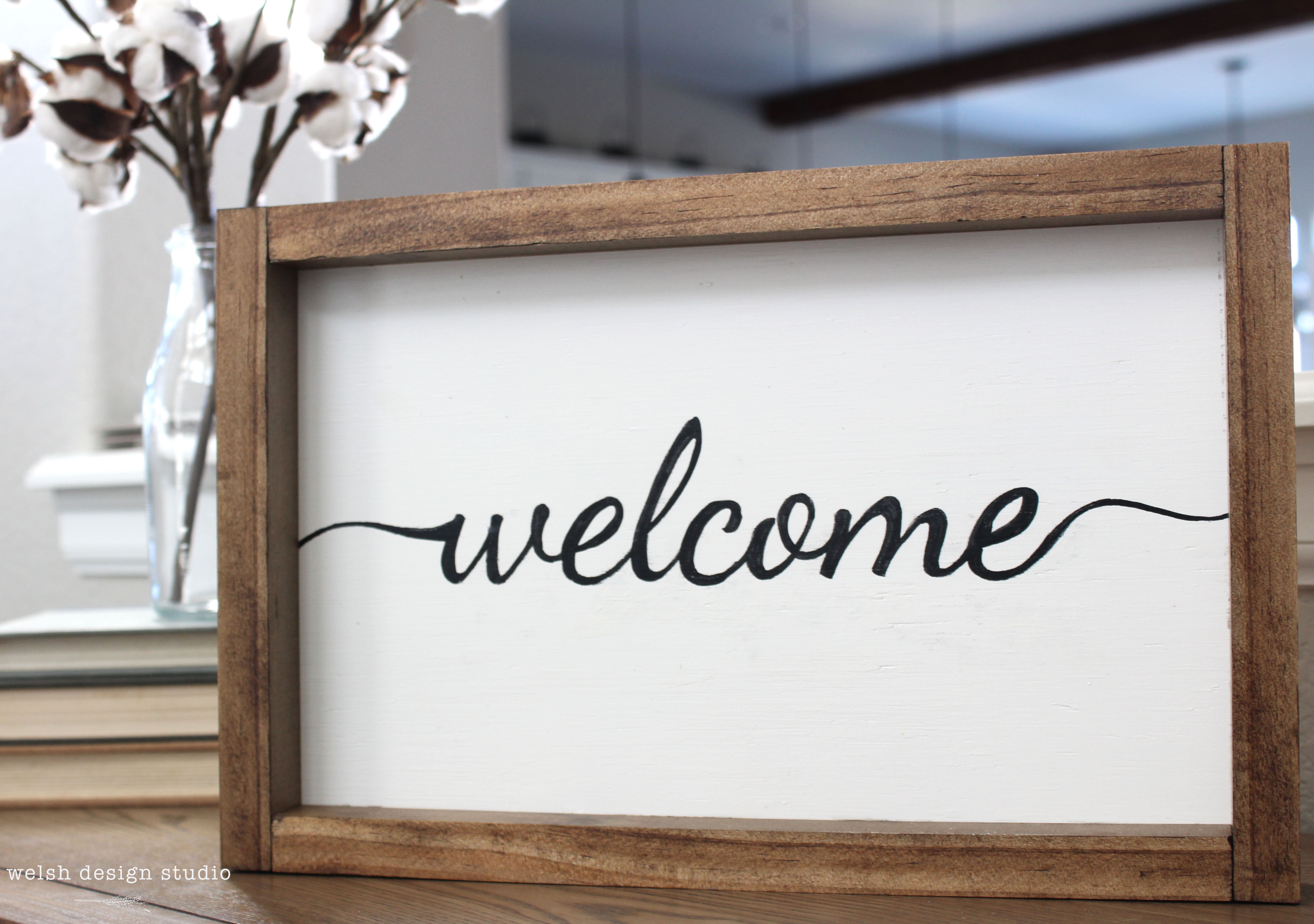 Wooden Signs For Home Decor Say Hello To Our Welcome Sign Product Welsh Design Studio
