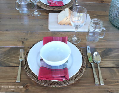 diy outdoor table place setting
