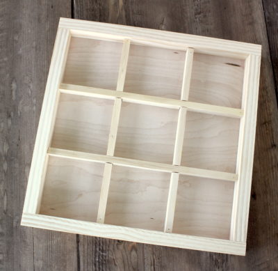 divided wood tray