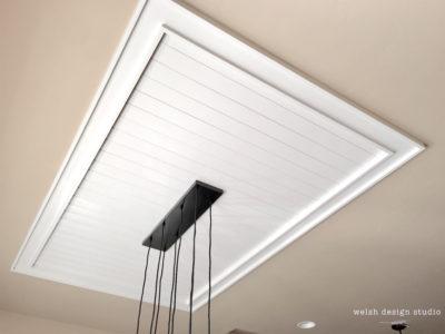 framed plank ceiling