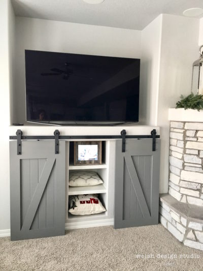 barn doors for entertainment unit