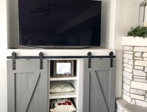 Barn Doors for a Built-in Entertainment Center